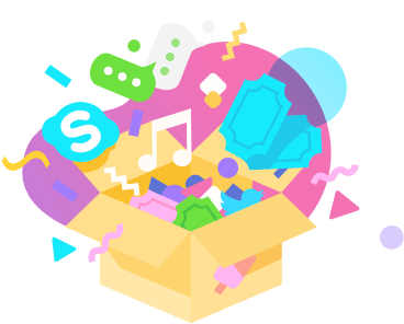 box rewards social media illustration sweet