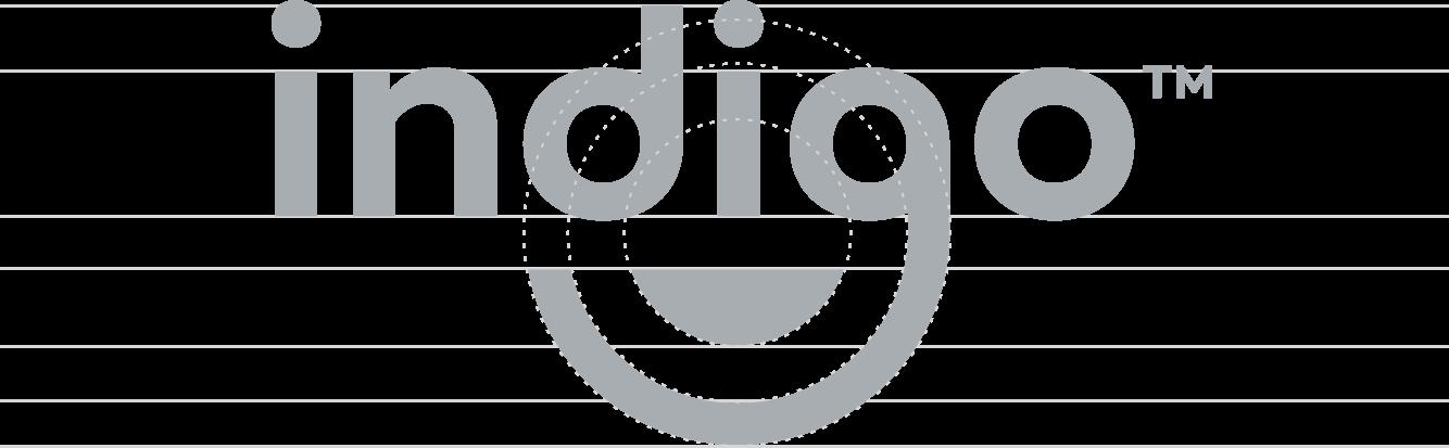indigo logo mark construction