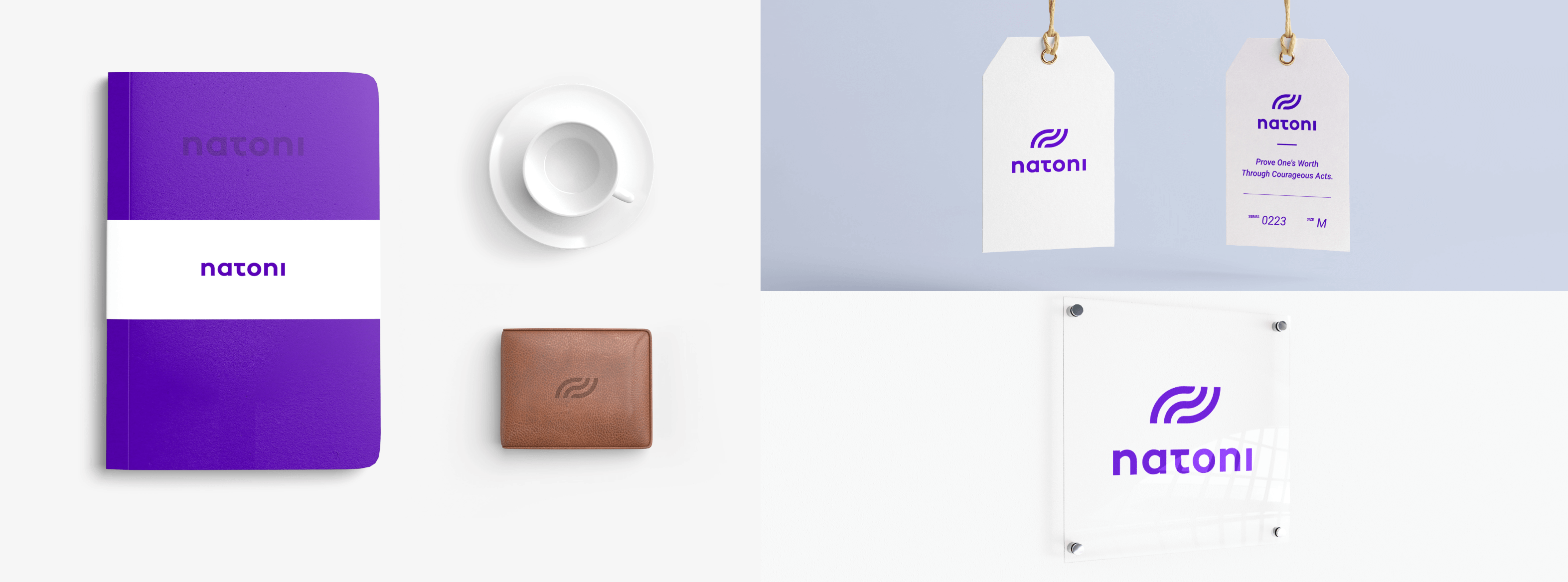 mockup notebook & tags natoni