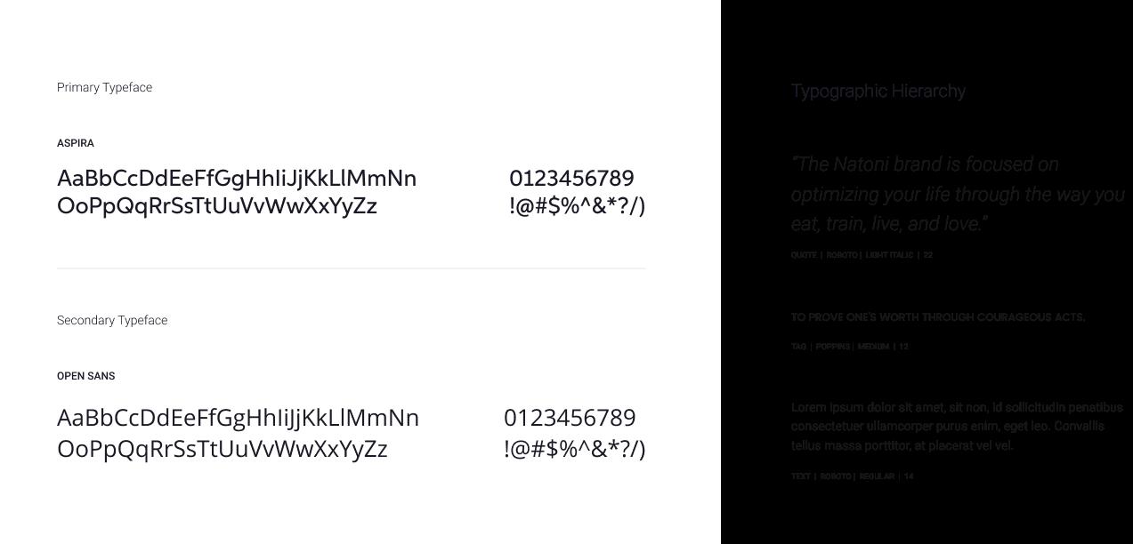 primary typeface natoni